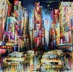 City of Dreams by Samantha Ellis -  sized 39x39 inches. Available from Whitewall Galleries